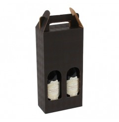 Gavekarton til 2 flasker, sort